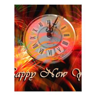 Reloj #3 del Año Nuevo Plantillas De Membrete