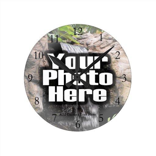 Reloj a todo color de la foto de encargo con