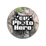 Reloj a todo color de la foto de encargo con númer