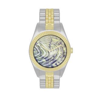 Reloj abstracto de las ondulaciones del agua