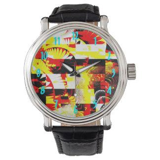 Reloj abstracto de Leslie Harlow 110