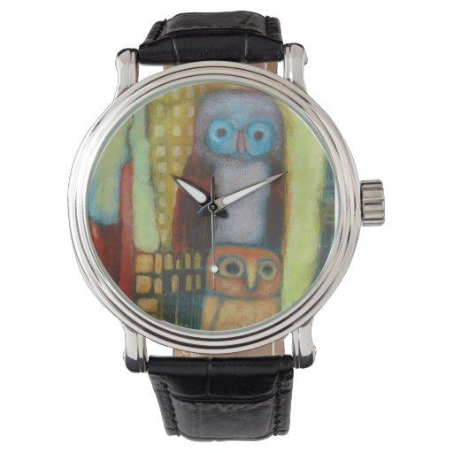 Reloj abstracto de los búhos