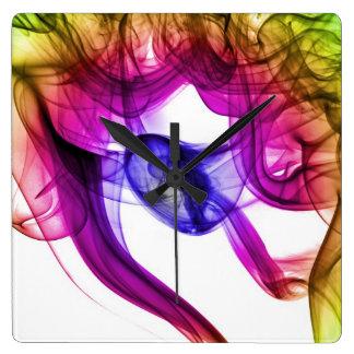 Reloj abstracto del arte del humo