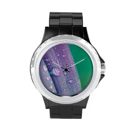 Reloj abstracto del descenso del agua