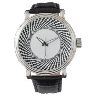 Reloj abstracto del modelo de puntos del círculo