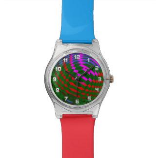 Reloj abstracto geométrico del modelo