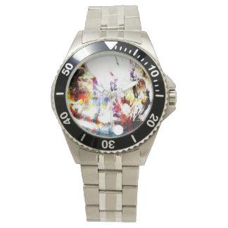 Reloj abstracto impar extraño