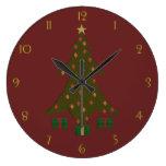 Reloj acolchado del navidad