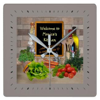 Reloj (adaptable) de la cocina con su nombre