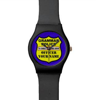 Reloj adaptable de la policía de la gramática