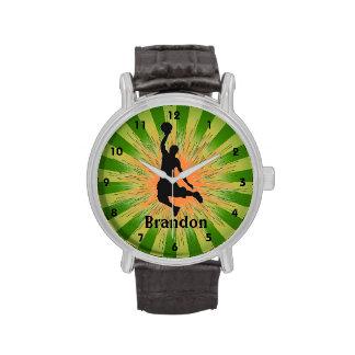 Reloj adaptable del diseño del baloncesto