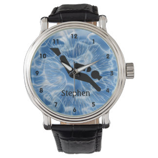 Reloj adaptable del diseño del buceo con