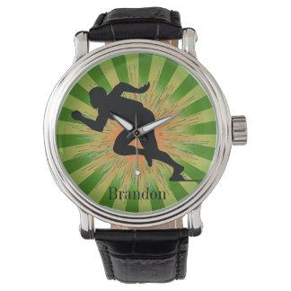 Reloj adaptable del diseño del corredor del