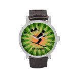 Reloj adaptable del diseño del esquí