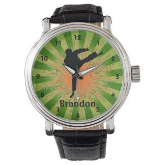 Reloj adaptable del diseño del karate