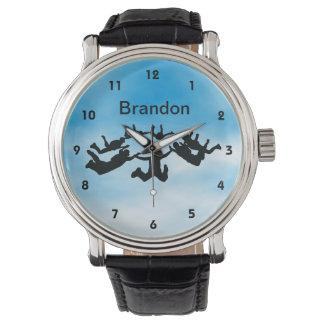 Reloj adaptable del diseño del paracaidismo