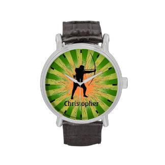 Reloj adaptable del diseño del tiro al arco