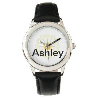 Reloj adorable de la margarita - personalizado
