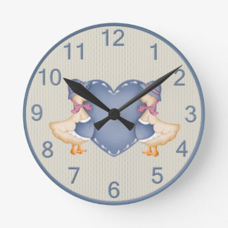 Reloj adorable del ganso del país