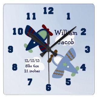 Reloj adorable personalizado del cuarto de niños