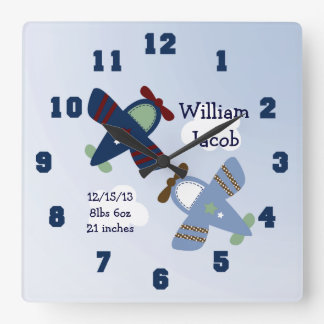 Reloj adorable personalizado del cuarto de niños d
