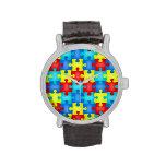 Reloj adulto de la conciencia del autismo
