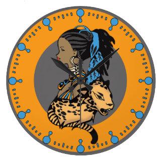 Reloj africano de la princesa pared