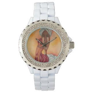 Reloj africano del arte de los pares
