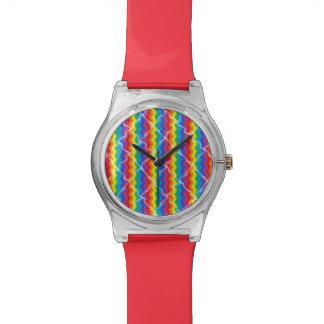 Reloj agrietado del arco iris