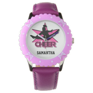Reloj ajustable del bisel de la animadora en rosa