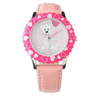 Reloj ajustable del bisel del oso polar del niño