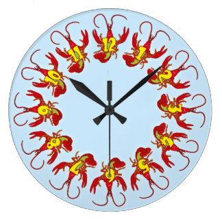 Reloj alegre de los cangrejos