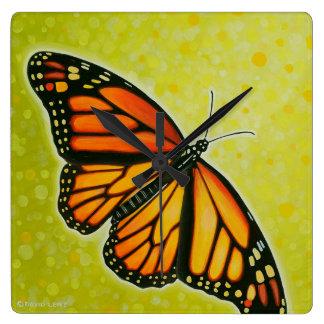 Reloj altísimo de la mariposa de monarca