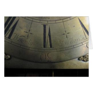 Reloj alto del caso de Guillermo Tomlinson Tarjeta Pequeña