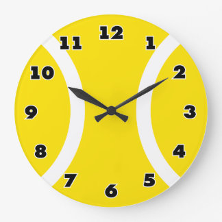 Reloj amarillo de la pelota de tenis con grandes