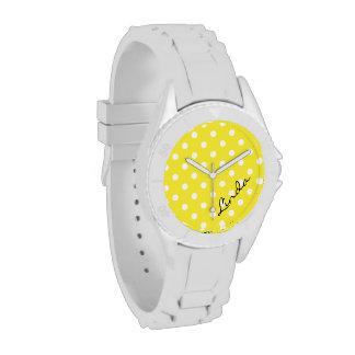 Reloj amarillo del lunar