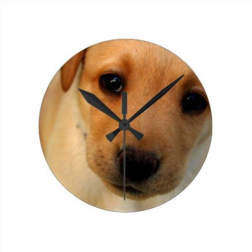 Reloj amarillo del perrito del laboratorio