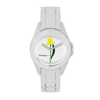 Reloj amarillo y verde de PRLimages del iris