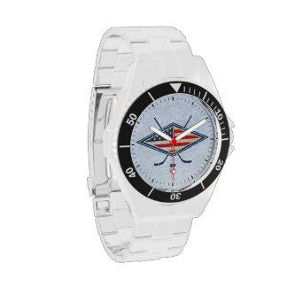 Reloj americano del logotipo de la bandera del hoc