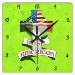 Reloj americano irlandés del cuadrado de la cruz c