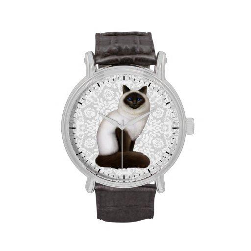 Reloj amistoso del gato de Birman