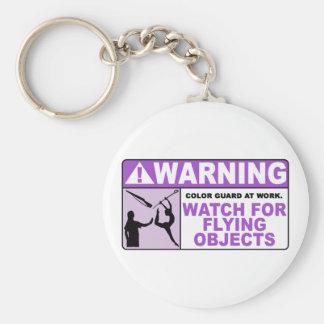 ¡Reloj AMONESTADOR para los objetos que vuelan! Llavero Redondo Tipo Pin