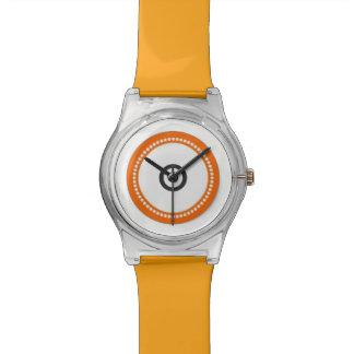 Reloj anaranjado de encargo de la correa ajustable