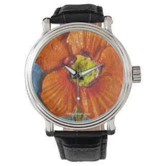 Reloj anaranjado de la amapola