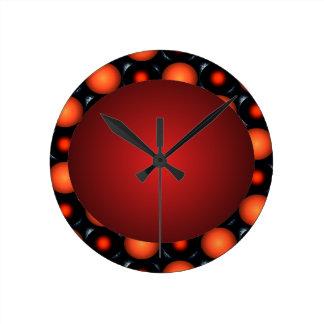 Reloj anaranjado de la bola del diseño Orangish 3D