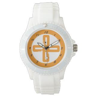 Reloj anaranjado del BL del equipo