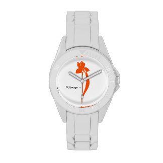 Reloj anaranjado del iris de PRLimages