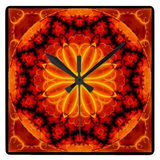 Reloj anaranjado llameante de Kreations del