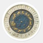 Reloj antiguo de Venecia Pegatina Redonda