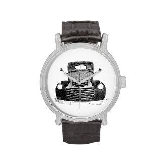 Reloj antiguo del bosquejo del camión 1947